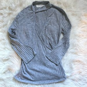 Urban Outfitters Ribbed Halter Blouse Top M